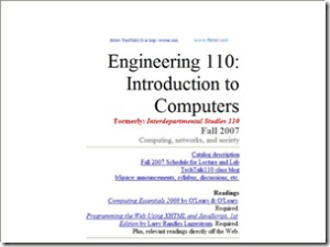 E110 - Introduction to Computers