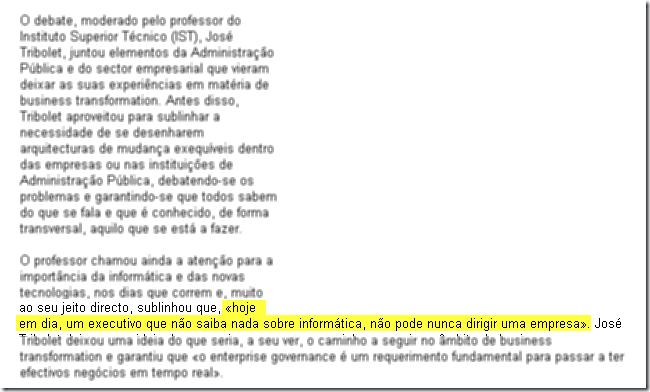 Oracle debate transformação do negócio, Claudia Sargento, Semana nº 927 de 8 a 14 de Maio de 2009